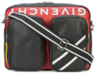 Givenchy logo colour-block shoulder bag