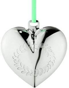 Georg Jensen Palladium-Plated Brass Christmas Heart Ornament