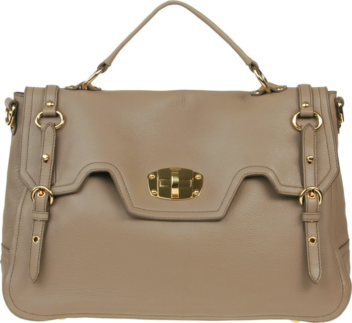 Miu Miu Large Deerskin Leather Tote