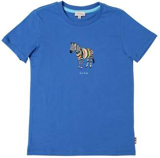 Paul Smith Zebra Print Cotton Jersey T-Shirt