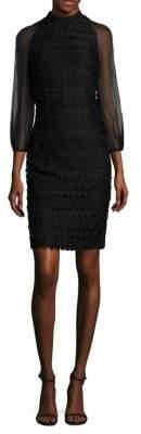 Kay Unger Geometric Cocktail Dress