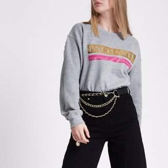River Island Womens Grey 'enchante' sweatshirt