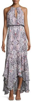 Parker Francesca Sleeveless Printed Maxi Dress, Henna $298 thestylecure.com