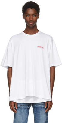 Balenciaga White Speedhunter Double Hem T-Shirt