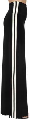 Norma Kamali Wide Leg Stretch Jersey Track Pants