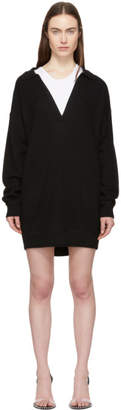 Alexander Wang Black Collared Bi-Layer Tunic Dress