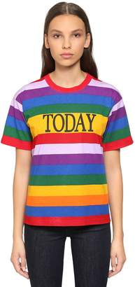 Alberta Ferretti Today Rainbow Printed Jersey T-Shirt