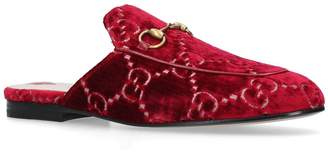 Gucci Velvet GG Princetown Slippers