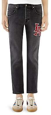 Gucci Men's LA AngelsTM Patch Slim-Fit Jeans
