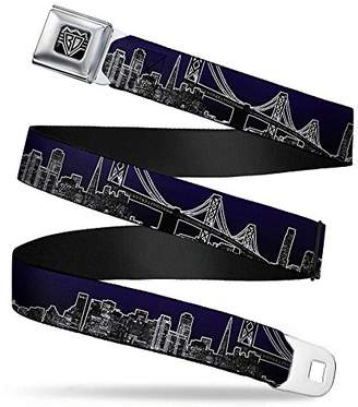 Buckle-Down Unisex-Adult's Seatbelt Belt San Francisco XL
