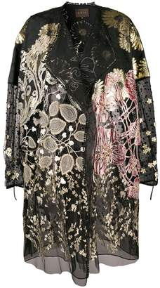 Biyan floral embroidered coat