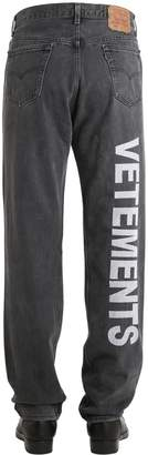 Vetements Levi's 501 Reworked Embroidered Jeans