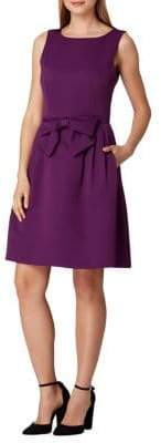 Tahari Arthur S. Levine Sleeveless Bow Fit-&-Flare Dress