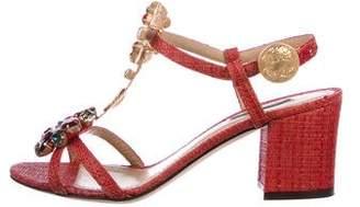 Dolce & Gabbana Embellished Embellished Ankle-Strap Sandals