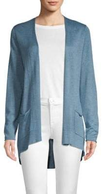 Eileen Fisher Open Front High-Low Cardigan