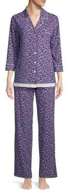 Carole Hochman Ditsy Floral Two-Piece Pajama Set