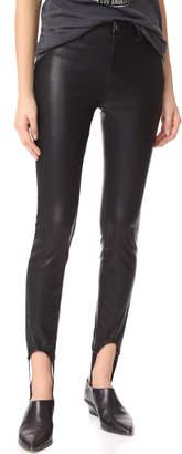 Blank Faux Leather Stirrup Pants