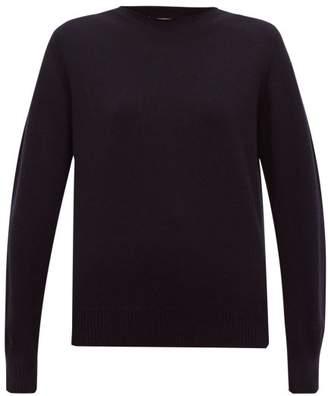 Maison Margiela Round Neck Cashmere Sweater - Womens - Navy