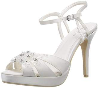 Menbur Wedding Women's Mia Ankle Strap Sandals Ivory Size: