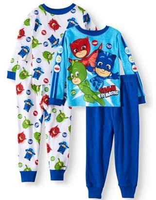 PJ Masks Cotton Tight Fit Pajamas, 4-piece Set (Toddler Boys)