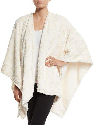 Natori Faux-Fur Reversible Shawl, White $140 thestylecure.com