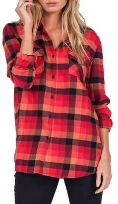 Women's Volcom Desert High Plaid Top $52 thestylecure.com