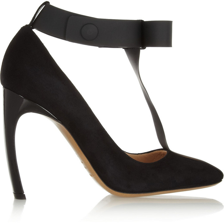 Nicholas Kirkwood + Roksanda Illincic Suede and PVC T-Bar Pumps