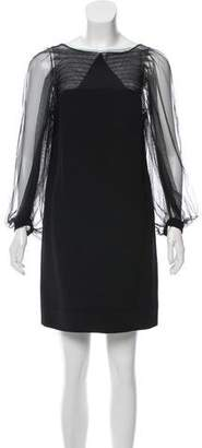 3.1 Phillip Lim Sheer-Accented Mini Dress