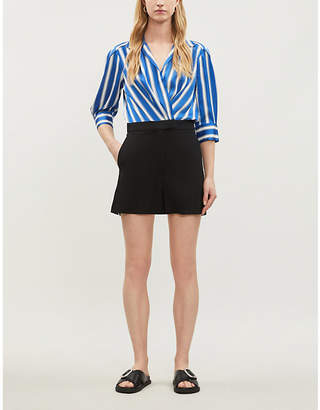 Sandro Striped satin and will playsuit