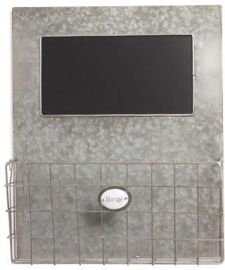 Metal Wire Chalkboard Wall Storage Basket