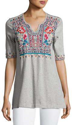 JWLA For Johnny Was Mina Boho Embroidered Easy Tunic, Petite $135 thestylecure.com