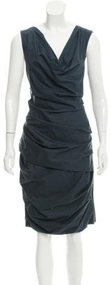 Vera Wang Ruched Knee-Length Dress $80 thestylecure.com