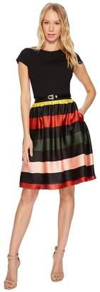 Ted Baker Aneli Cruise Stripe Bow Midi Dress Women's Dress