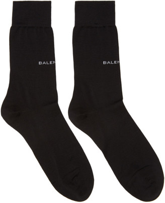 Balenciaga Black Logo Socks $95 thestylecure.com