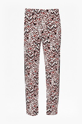 French Connection Leopard Moth Crepe Gathered Trousers