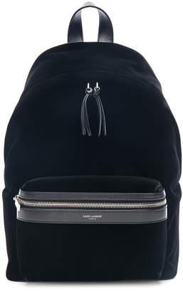 Saint Laurent Mini Velvet City Backpack