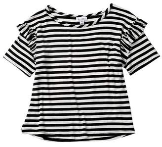 Love, Fire Crop Stripe Tee (Big Girls)