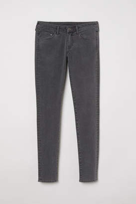 H&M Super Skinny Low Jeans - Gray