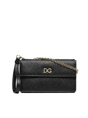a6556ab7c4 Dolce & Gabbana Black Top Zip Shoulder Bags - ShopStyle