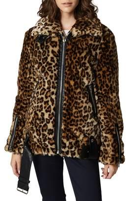 Blank NYC BLANKNYC Leopard Faux Fur Jacket