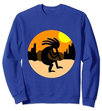 Kokopelli Native American Sunset Sweatshirt