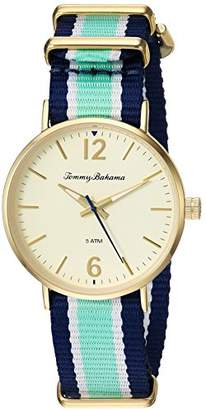Tommy Bahama Women's Quartz Stainless Steel and Nylon Casual WatchMulti Color (Model: TB00040-05)
