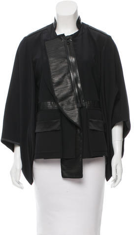 GivenchyGivenchy Silk Leather-Trimmed Jacket