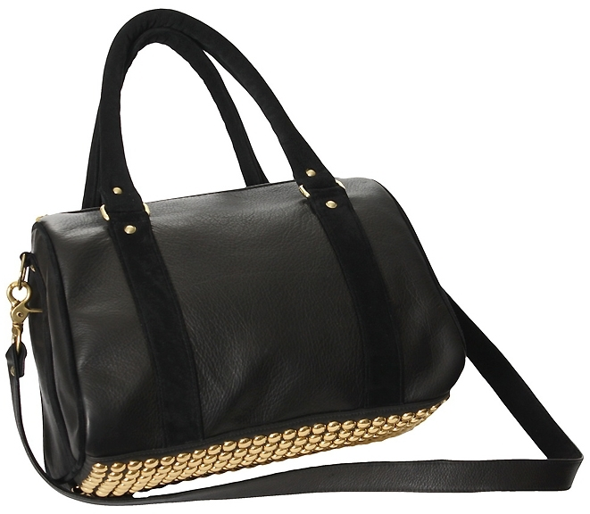 JJ Winters Studded Black Combo Satchel