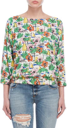 Love Moschino Printed Blouse