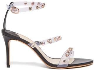 Sophia Webster Rosalind Crystal Embellished Leather Sandals - Womens - Black
