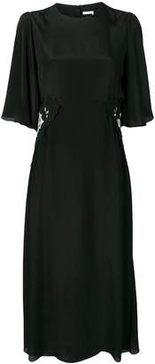 See by Chloe lace side panel midi dress