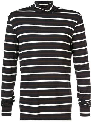 3.1 Phillip Lim Striped long-sleeve turtleneck T-shirt