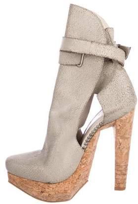 Herve Leger Platform High Heel Ankle Boots