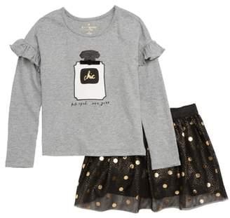 Kate Spade Chic Tee & Skirt Set